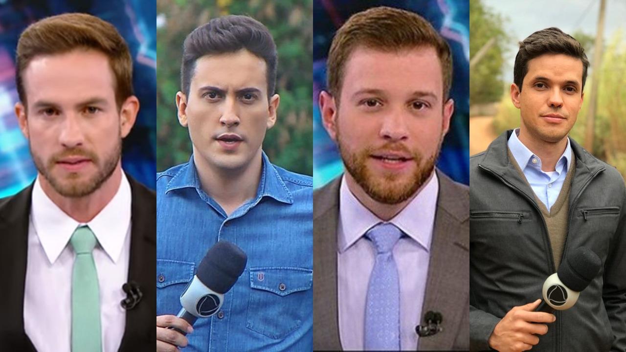 Daniel Adjuto, Tarcis Duarte, Cassius Zeilmann e Leonardo Lara (Foto: Reprodução/SBT/Instagram/Montagem TV Foco) repórteres repórter Record