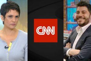 Sandra Annenberg e Evaristo Costa (Foto: Reprodução/TV Globo/CNN Brasil/Montagem TV Foco)