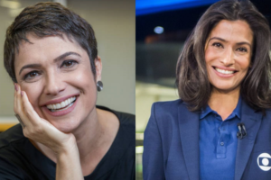 A famosa apresentadora do Jornal Nacional da Globo. Renata Vasconcellos é chamada de louca por Sandra