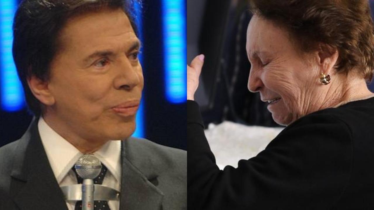 Silvio Santos e dona Maria do Céu, mãe de Gugu Liberato (Foto: Divulgação/SBT/Francisco Cepeda e Thiago Duran/AgNews)