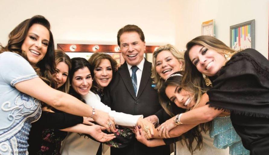 Silvio Santos e toda a sua família (Foto: Divulgação/SBT)