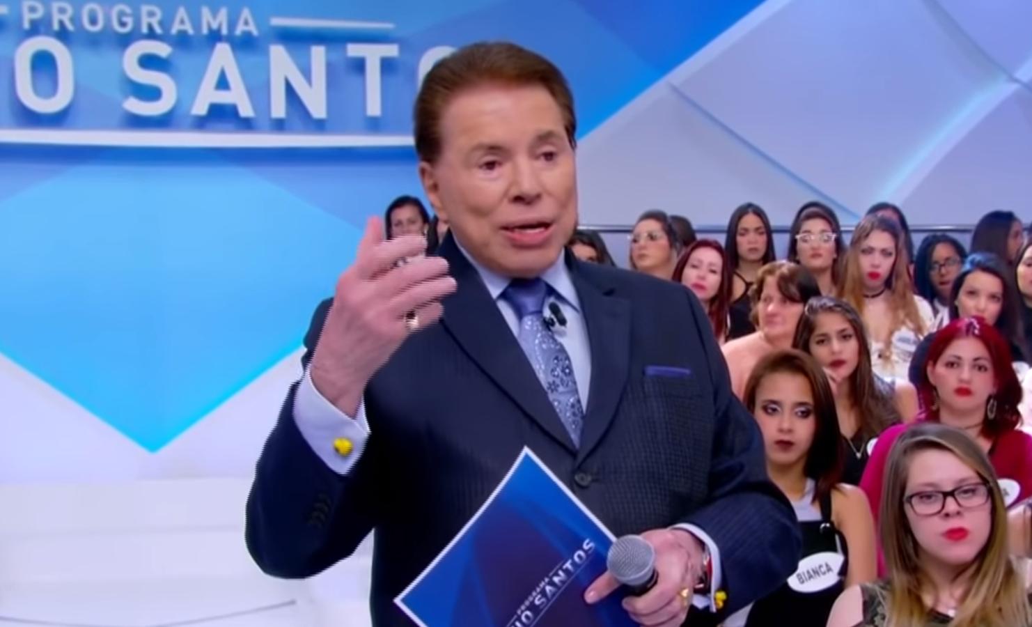 O apresentador Silvio Santos deixou os fãs preocupados (Foto: Reprodução)