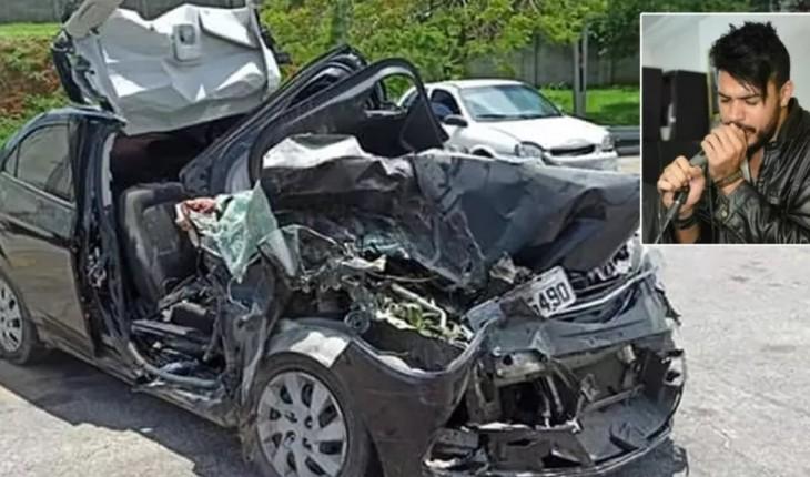 Foto de como ficou o carro do cantor sertanejo (Imagem: Reprodução)