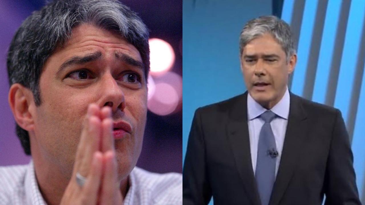 William Bonner no Jornal Nacional (Foto: Reprodução/Globo/Montagem TV Foco)