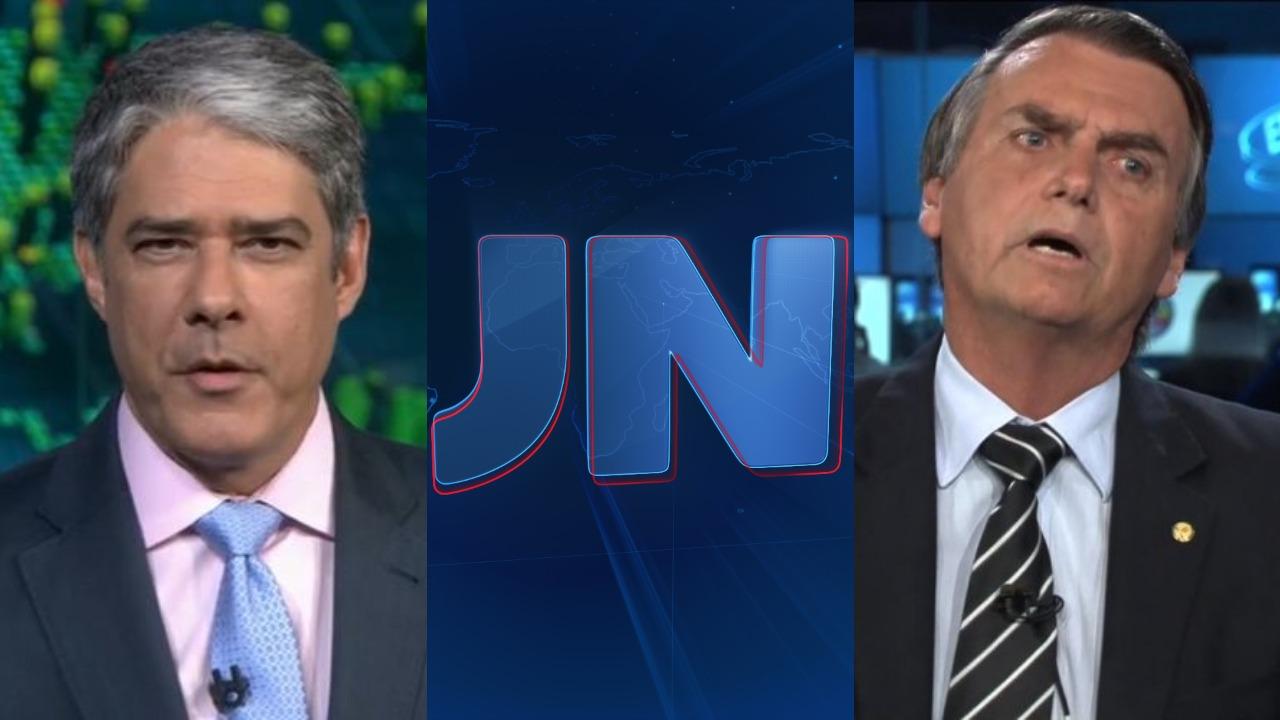 William Bonner e Jair Bolsonaro (Foto: Divulgação/TV Globo/Montagem TV Foco)
