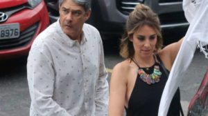 William Bonner e Natasha Dantas (Foto: Wallace Barbosa e Daniel Pinheiro/AgNews)
