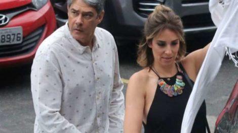 William Bonner e Natasha Dantas (Foto: Wallace Barbosa e Daniel Pinheiro/AgNews)