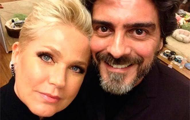 Xuxa Meneghel e Junno Andrade, que sofreu acidente de moto (Foto: Reprodução)