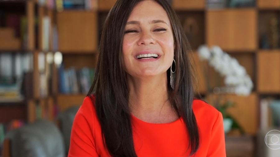 """Adriana Esteves justifica ausência no Troféu Domingão: """"Hoje é meu aniversário"""" Imagem: Reprodução/Globo"""