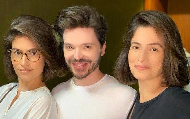 Renata Vasconcellos, Lanza Mazza e Tiago Parente (Foto: Reprodução/Instagram)