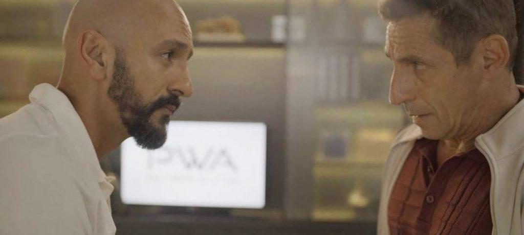 Tuca Andrada como Belizário e Irandhir Santos como Álvaro em Amor de Mãe (Foto: Reprodução/TV Globo)