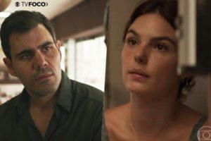 Magno (Juliano Cazarré) e Betina (Isis Valverde) serão colocados contra a parede em Amor de Mãe (Foto: Reprodução/Globo/Montagem TV Foco)