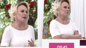 Ana Maria Braga da Globo do Mais Você perdeu a linha ao vivo com repórter (Foto reprodução)