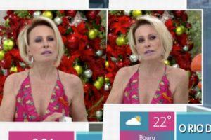 Ana Maria Braga durante o Mais Você da Globo ficou visivelmente incomodada com repórter (Foto reprodução)