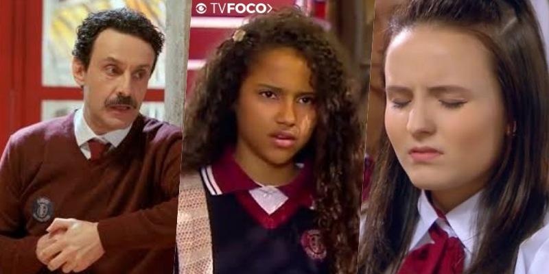 Lindomar, Paola e Mirela personagens de As Aventuras de Poliana