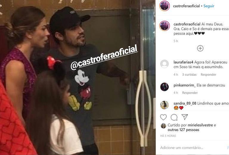 Caio Castro, Grazi Massafera e Sofia (Foto: Reprodução/Instagram)