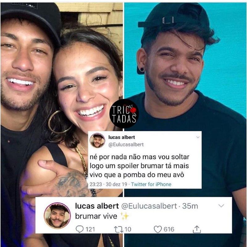 Neymar e Bruna Marquezine tiveram a volta anunciada (Foto: Reprodução)