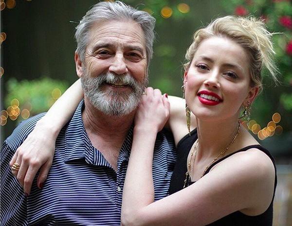 David Herad e sua filha Amber Heard (Foto: Reprodução)