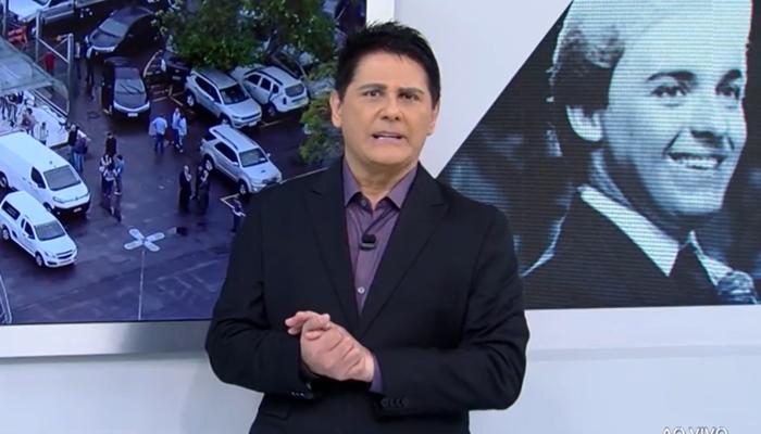 Cesar Filho no comando do Hoje em Dia, que foi líder de audiência com despedida a Gugu Liberato (Foto: Reprodução/Record)