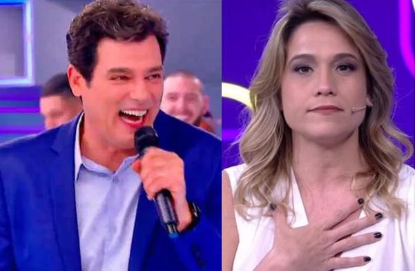 Celso Portiolli cita o programa apresentado Fernanda Gentil durante o Fofocalizando (Foto: Reprodução)
