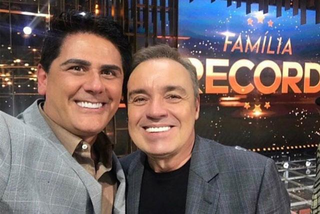 César Filho e Gugu no especial Família Record (Foto: Reprodução)