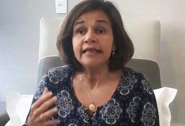 A atriz Claudia Rodrigues diretamente do hospital resolveu mandar um recado e surpreendeu muita gente (Foto reprodução)