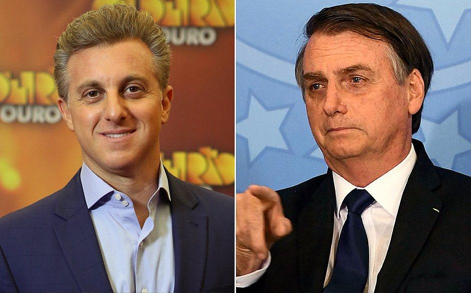 Luciano Huck e Bolsonaro se encontrarão em Davos (Foto: Montagem)
