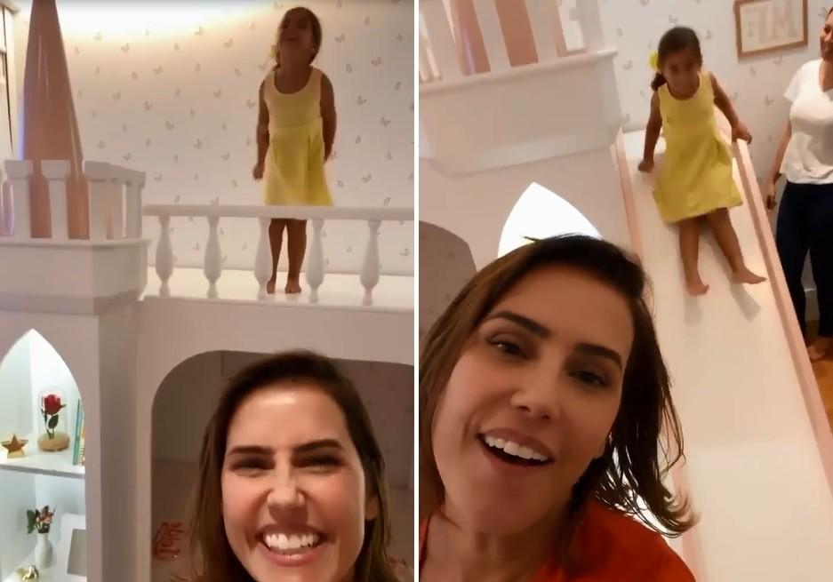 Deborah Secco mostra felicidade da filha com nova cama (Foto: Reprodução/Instagram)