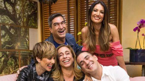 Ana Furtado, Zeca Camargo, Cissa Guimarães, André Marques e Patrícia Poeta (Foto: Divulgação/TV Globo)