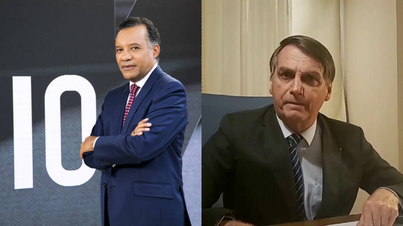 Heraldo Pereira e Jair Bolsonaro (Foto: Divulgação/GloboNews/Facebook/Montagem TV Foco)