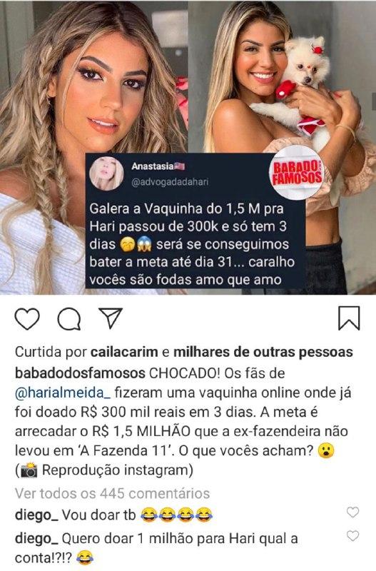 Hariany Almeida pode ganhar R$ 1,5 milhão (Foto: Reprodução/ Instagram)