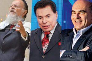 Edir Macedo, Silvio santos e Marcelo de Carvalho são donos respectivamente da Record, SBT e RedeTV! (Foto reprodução)