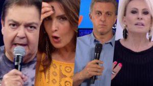 Faustão, Ana Maria, Luciano Huck e Fátima Bernardes sofreram consequências na Globo (Foto reprodução)