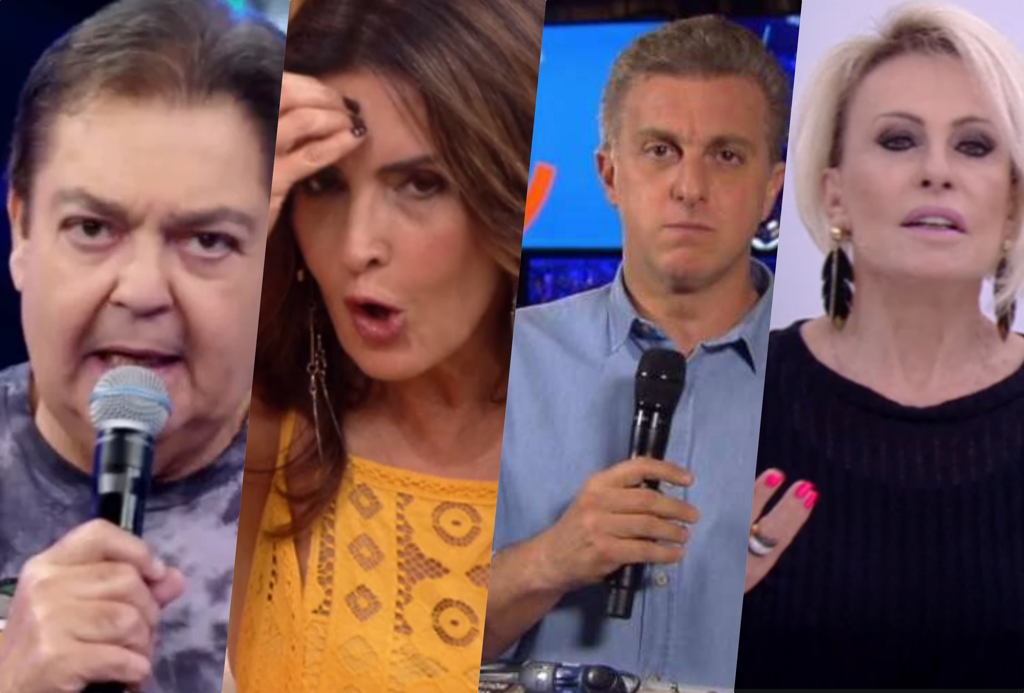 zorra total Faustão, Ana Maria, Luciano Huck e Fátima Bernardes sofreram consequências na Globo (Foto reprodução)