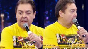 Faustão da Globo, ao vivo, perdeu o controle e desceu o cassete (Foto reprodução)