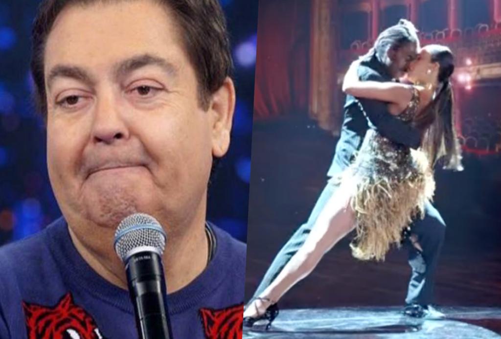 Faustão, ao vivo na Globo, resolveu soltar o que pensar e falou de sexo a três (Foto reprodução)