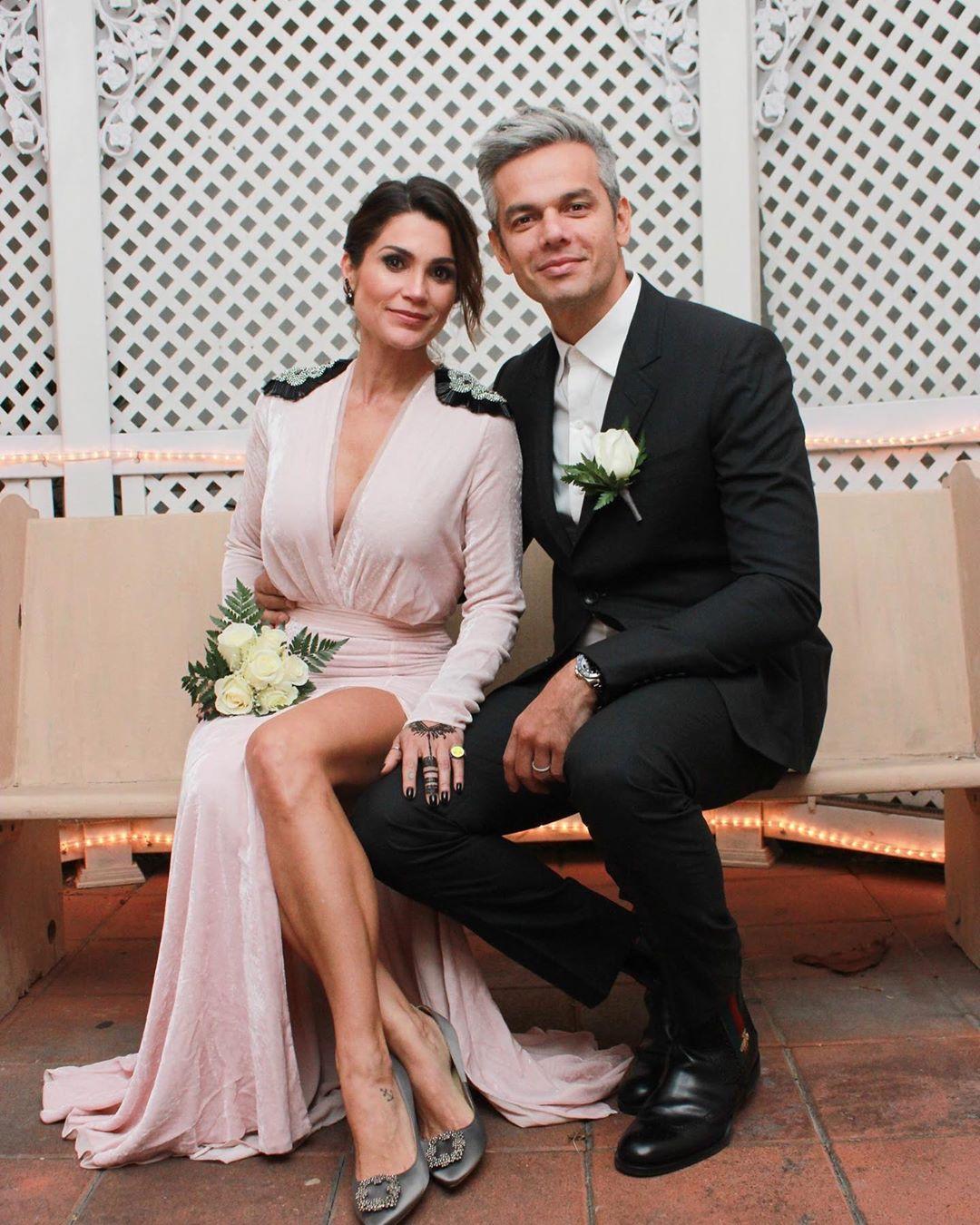 Flávia Alessandra e Otaviano Costa no casamento em Las Vegas, em 2017 (Foto: Reprodução/Instagram)