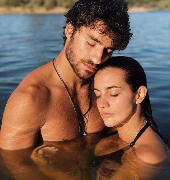 José Condessa e a namorada (Foto: Reprodução)