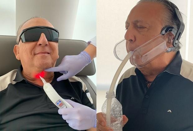Galvão Bueno mostra recuperação após infarto (Foto: Reprodução/Instagram)