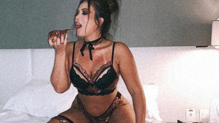 Geisy Arruda incendeia de lingerie reveladora (Foto: Reprodução)