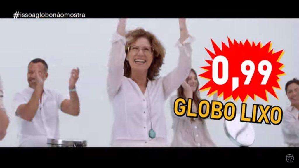Globo faz sátira de si mesmo durante o Fantástico (Foto: Reprodução)