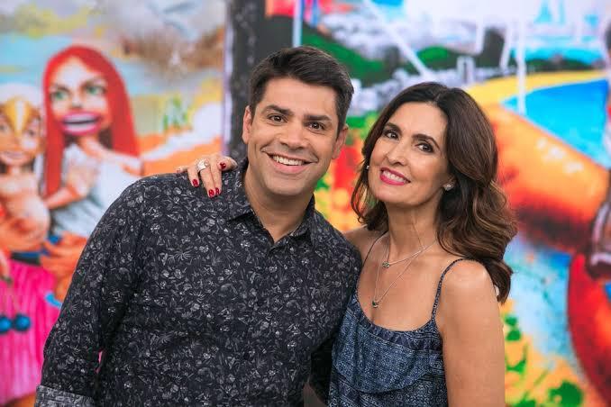 Os jornalista Lair Rennó e Fátima Bernardes durante o programa Encontro; ele era um dos parceiros (como ela mesmo chama) mais queridos pelo público da atração (Foto: Reprodução/ Globo)