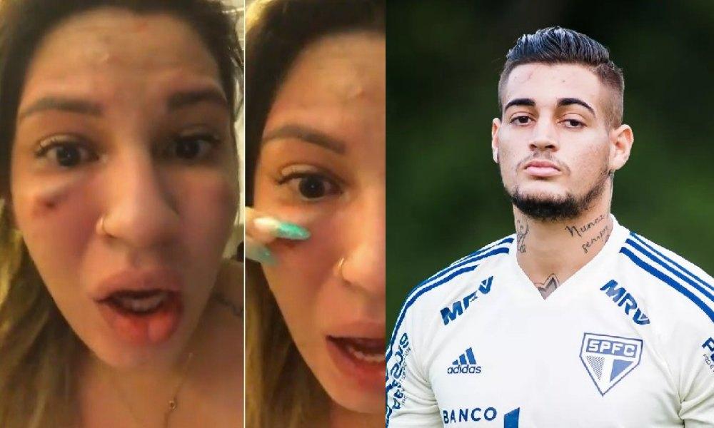 O goleiro do São Paulo, Jean Paulo é acusado pela mulher de agressão. Foto: Reprodução