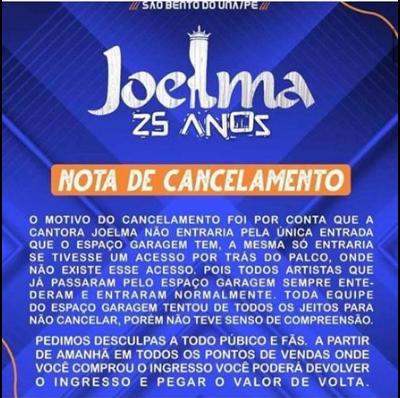 Após Joelma cancelar o show, produtora de eventos dá sua versão e contraria a cantora (Foto: Reprodução)Após Joelma cancelar o show, produtora de eventos dá sua versão e contraria a cantora (Foto: Reprodução)