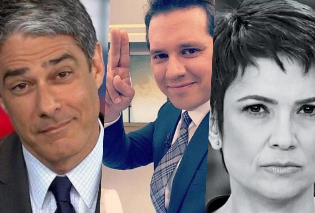 Globo enfrentou ano amaldiçoado no jornalismo que ficará para sempre marcado. William Bonner e Sandra Annenberg (Foto reprodução)