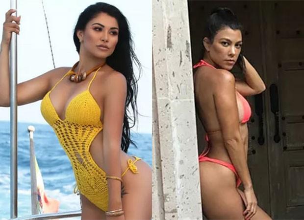 A modelo Nathy Kihara gastou mais de R$ 200 mil para ficar parecido com Kourtney Kardashian (Foto: Reprodução)