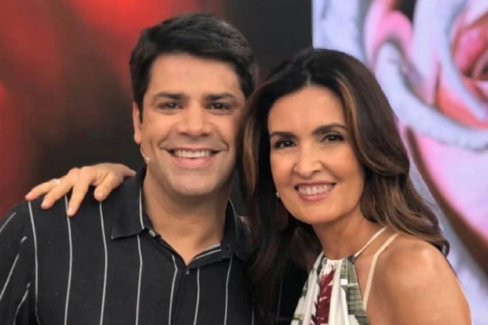 Lair Rennó e Fátima Bernardes (Foto: Divulgação/TV Globo)