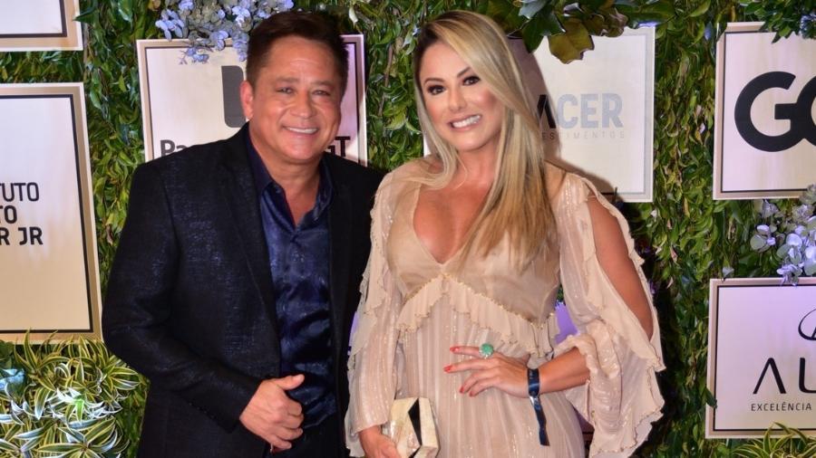 Leonardo e Poliana Rocha (Foto: Leo Franco e Thiago Duran/AgNews)