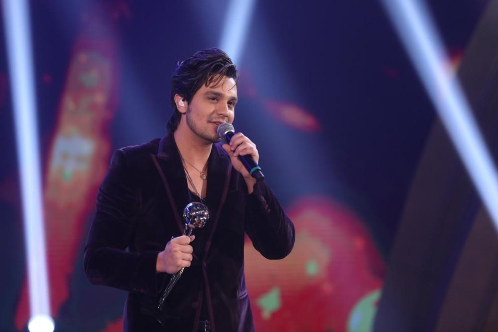 """Luan Santana é eleito o """"cantor do ano"""" e ganha o Troféu Domingão pela 12ª vez (Foto: Isabella Pinheiro / Gshow)"""