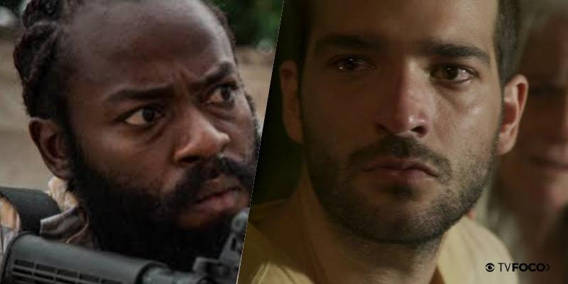 Marconi (Douglas Silva) fará Sandro (Humberto Carrão) voltar para a bandidagem em Amor de Mãe (Foto: Reprodução/Globo)